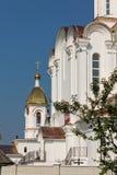 Turov, Bielorussia - 28 giugno 2013: Cattedrale dei san Cyril e Lavrenti Turov del 28 giugno 2013 nella città di Turov, Bieloruss Fotografie Stock Libere da Diritti