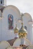Turov, Weißrussland - 7. August 2016: Kathedrale von Heiligen Cyril und Lavrenti von Turov am 28. Juni 2013 in der Stadt von Turo Lizenzfreies Stockfoto
