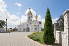 Turov, Weißrussland - 7. August 2016: Kathedrale von Heiligen Cyril und Lavrenti von Turov am 28. Juni 2013 in der Stadt von Turo Lizenzfreies Stockbild