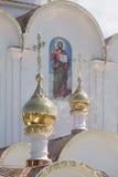 Turov, Wit-Rusland - Augustus 7, 2016: Kathedraal van Heiligen Cyril en Lavrenti van Turov 28 Juni, 2013 in de stad van Turov, Wi Stock Afbeeldingen