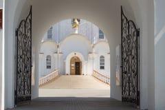 Turov, Wit-Rusland - Augustus 7, 2016: Kathedraal van Heiligen Cyril en Lavrenti van Turov 28 Juni, 2013 in de stad van Turov, Wi Stock Afbeelding