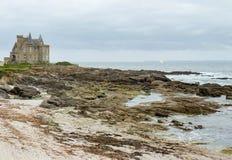 Turpault-Schloss in Bretagne stockfotos