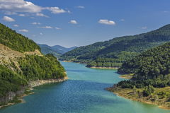 Turqoise artificial dam lake Stock Image