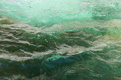 Turqoise Water. Clear turqoise river water with dark green at the Othello Tunnels Royalty Free Stock Photos