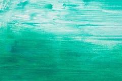 Turqouise水彩被绘的背景 库存照片