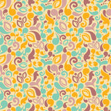 Turqouise and yellow abstract seamless pattern Stock Images