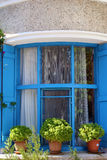 Turquía adornada, ventana de Boazcaada Foto de archivo libre de regalías