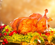 Turquía asada la Navidad Imagen de archivo