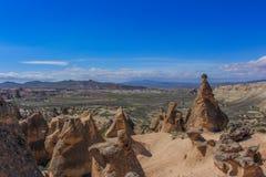 Turquía Cappadocia Paisaje coloreado de alta temperatura cueva foto de archivo