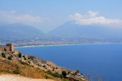 Turquía, castillo de Alanya Fotos de archivo libres de regalías