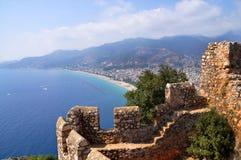 Turquía, castillo de Alanya Fotos de archivo