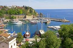 Turquía. Ciudad de Antalya. Puerto foto de archivo