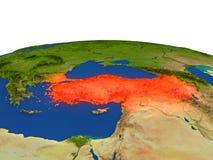 Turquía en rojo de la órbita ilustración del vector