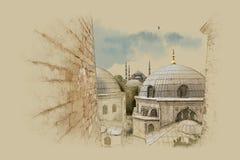 Turquía Estambul, gráficos en el papel viejo Foto de archivo