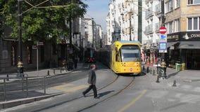 Turquía Estambul Tranvía del viaje de la calle de la gente de la calle almacen de video