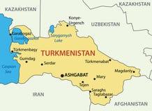 Turquemenistão - mapa de um país ilustração royalty free