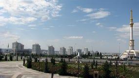 Turquemenistão - monumentos e construções de Ashgabat Foto de Stock