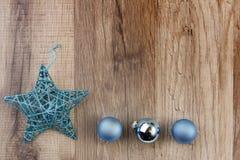 Turquesa de la decoración de la Navidad Imagenes de archivo