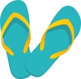 Turquesa del flip-flop stock de ilustración