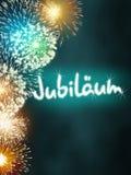 Turquesa del fuego artificial del aniversario del jubileo de Jubiläum del alemán Imagen de archivo libre de regalías
