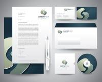 Turquesa do molde dos artigos de papelaria do negócio Fotografia de Stock