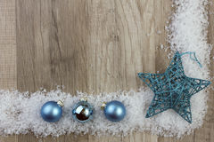 Turquesa do ornamento do Natal foto de stock royalty free