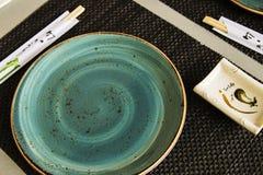 Turquesa do sushi Setup para 2 imagem de stock royalty free