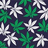 Turquesa e folhas tropicais do verde Projeto gráfico sem emenda com palmas surpreendentes Forma, interior, envolvendo, empacotame Fotos de Stock Royalty Free
