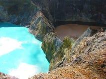 Turquesa e lago marrom fotografia de stock royalty free