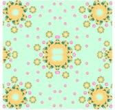 Turquesa floral Fotografía de archivo libre de regalías