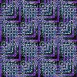 Turquesa verde oscuro púrpura compleja regular del modelo de zigzag diagonalmente ilustración del vector
