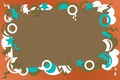 Turquesa y fondo retro coralino Imágenes de archivo libres de regalías