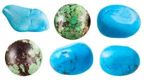 Turquesa y sus piedras de gema de las imitaciones Imagen de archivo