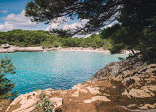 Turqueta beach in Menorca, Spain. Royalty Free Stock Photo