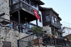 Turquia, Alanya, em janeiro de 2017 rua dos anos de idade Imagem de Stock