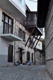 Turquia, Alanya, em janeiro de 2017 rua dos anos de idade Imagem de Stock Royalty Free