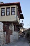 Turquia, Alanya, em janeiro de 2017 rua dos anos de idade Fotografia de Stock