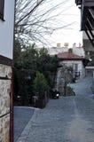 Turquia, Alanya, em janeiro de 2017 rua dos anos de idade Foto de Stock Royalty Free