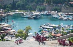 Turquia Antalya Cidade velha Opinião do mar foto de stock royalty free
