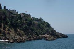 Turquia Antalya Cidade velha Opinião do mar fotografia de stock