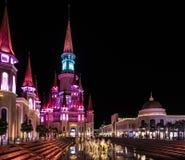Turquia, Belek - 7 DE DEZEMBRO DE 2018: A terra do hotel do parque temático das legendas é ficada situada no recurso de Antalya imagens de stock royalty free