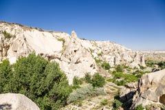 Turquia, Cappadocia As ruínas do complexo do monastério da caverna no museu do ar livre de Goreme Foto de Stock