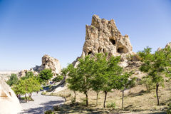 Turquia, Cappadocia As ruínas do complexo do monastério no museu do ar livre de Goreme Foto de Stock