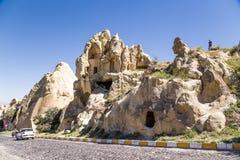 Turquia, Cappadocia As ruínas do monastério no museu do ar livre de Goreme Fotos de Stock