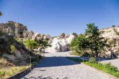 Turquia, Cappadocia As ruínas do museu complexo do ar livre do monastério de Goreme Foto de Stock