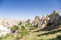 Turquia, Cappadocia Complexo medieval do monastério, cinzelado nas rochas, museu do ar livre de Goreme Imagens de Stock