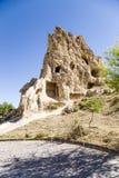 Turquia, Cappadocia Convento Kyzlar da caverna das ruínas (XI c ) Museu Goreme do ar livre Imagem de Stock