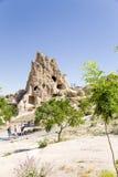 Turquia, Cappadocia Museu complexo Göreme do ar livre do monastério da caverna Balance com cavernas - convento Kyzlar, XI século Imagens de Stock