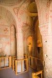 Turquia, Cappadocia Museu complexo Göreme do ar livre do monastério da caverna Balance com cavernas - convento Kyzlar, XI século Fotografia de Stock
