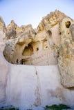 Turquia, Cappadocia O museu complexo Göreme do ar livre do monastério As ruínas da igreja medieval da caverna Fotografia de Stock Royalty Free